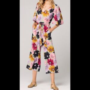 Band of Gypsies Lima Floral Print Jumpsuit NWT